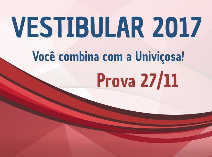 As provas serão aplicadas no dia 27 de novembro, às 13h, na Unidade 1: Avenida Maria de Paula Santana, 3815, Silvestre