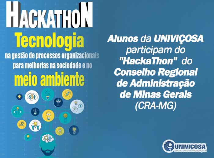 Notícia - O Hackathon é organizado pelo Conselho Regional de Administração de Minas Gerais