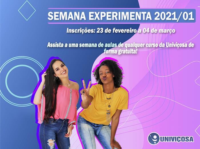Participe da Semana Experimenta, assista a uma semana de aulas na UNIVIÇOSA e conheça mais sobre os cursos oferecidos pela Instituição!
