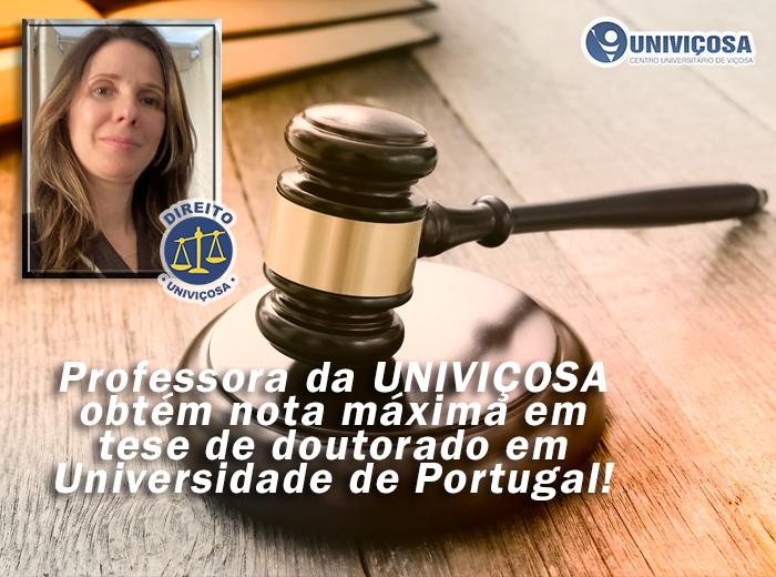 Notícia - A professora Ângela Barbosa Franco defendeu tese na Universidade do Minho, em Portugal,
