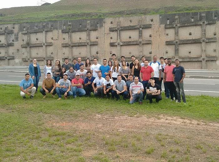 Estudantes do sexto período visitaram estruturas de contenção no trecho Juiz de Fora-Petrópolis