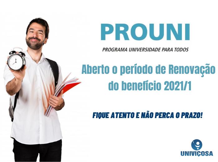 OTermo de Compromisso de Renovação da Bolsa do PROUNI 2020/2 está disponível para os alunos que conseguiram o benefício até 2020/1.