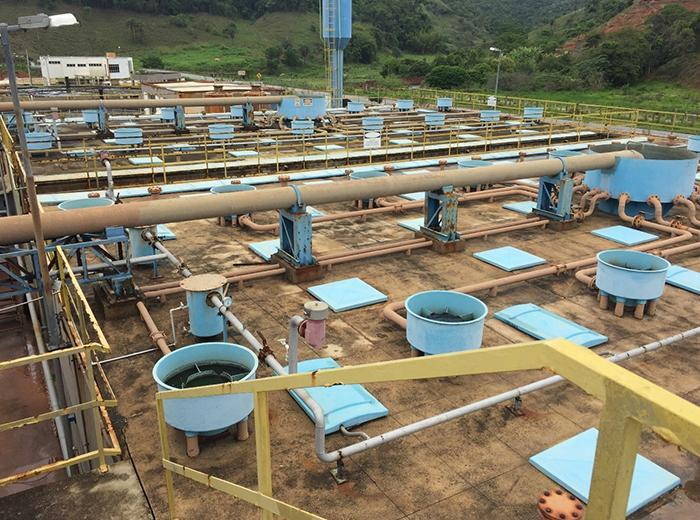 Conjunto de reatores UASB da ETE Itabira