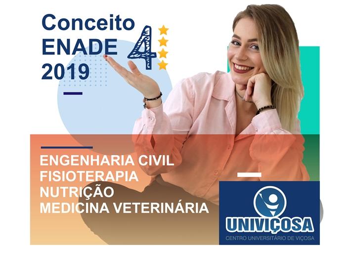 Fisioterapia, Nutrição, Medicina Veterinária e Engenharia Civil obtiveram nota 4 no ENADE 2019.