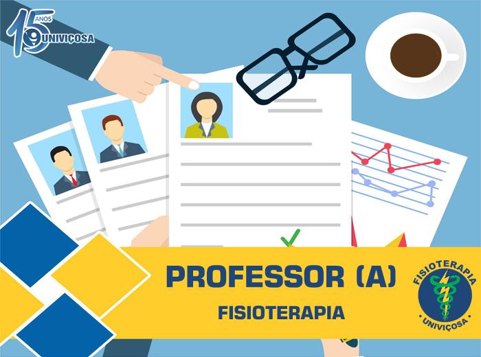 A vaga corresponde às disciplinas de Tópicos Especiais em Fisioterapia e Fisioterapia Oncológica, que compõem a grade do curso de Fisioterapia.