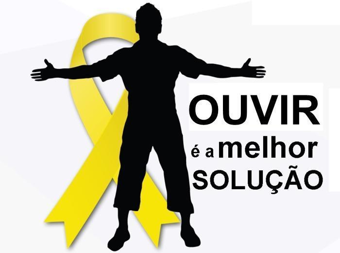 No mês Mundial de Prevenção ao Suicídio, o curso de Psicologia vestiu-se de amarelo para dizer que