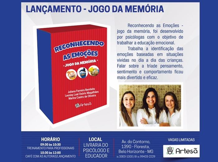 Uma das idealizadoras do projeto que inclui o jogo é formada em Psicologia na Univiçosa. O lançamento será feito neste sábado (17), em Belo Horizonte.