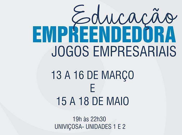 Univiçosa investe em ações que proporcionam maior conhecimento, aprendizado e prática sobre o empreendedorismo para todos os seus alunos