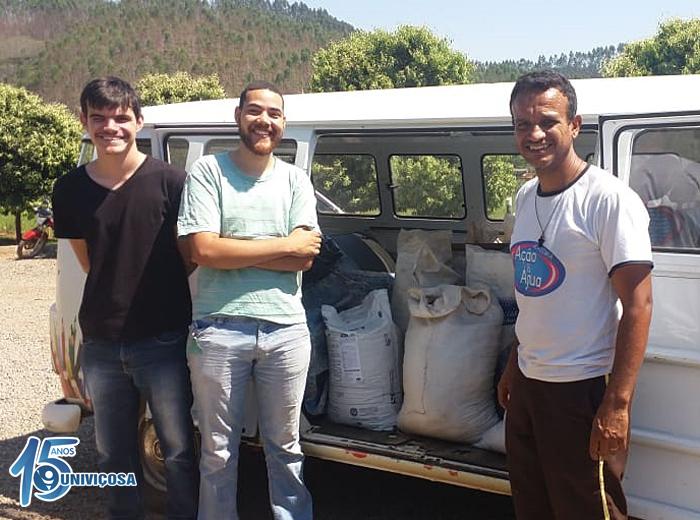 O projeto realizado na Unidade 3 - Fazenda Escola, arrecadou cerca de 500 Kg de matéria orgânica.
