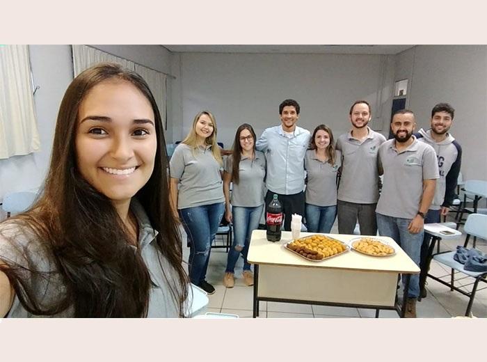 O Engenheiro Agrícola e Ambiental, Diogo Vargas, foi recebido pelos membros da Empresa Júnior para em bate-papo sobre experiências acadêmicas e mercado de trabalho