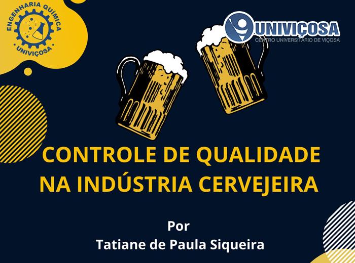 CONTROLE DE QUALIDADE NA INDÚSTRIA CERVEJEIRA
