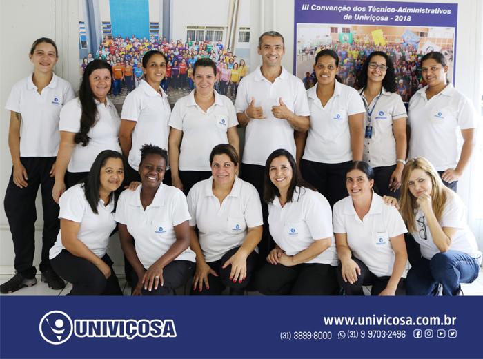 Os colaboradores envolvidos nas ações do UniResíduos pertencem ao Setor de Limpeza da Univiçosa.