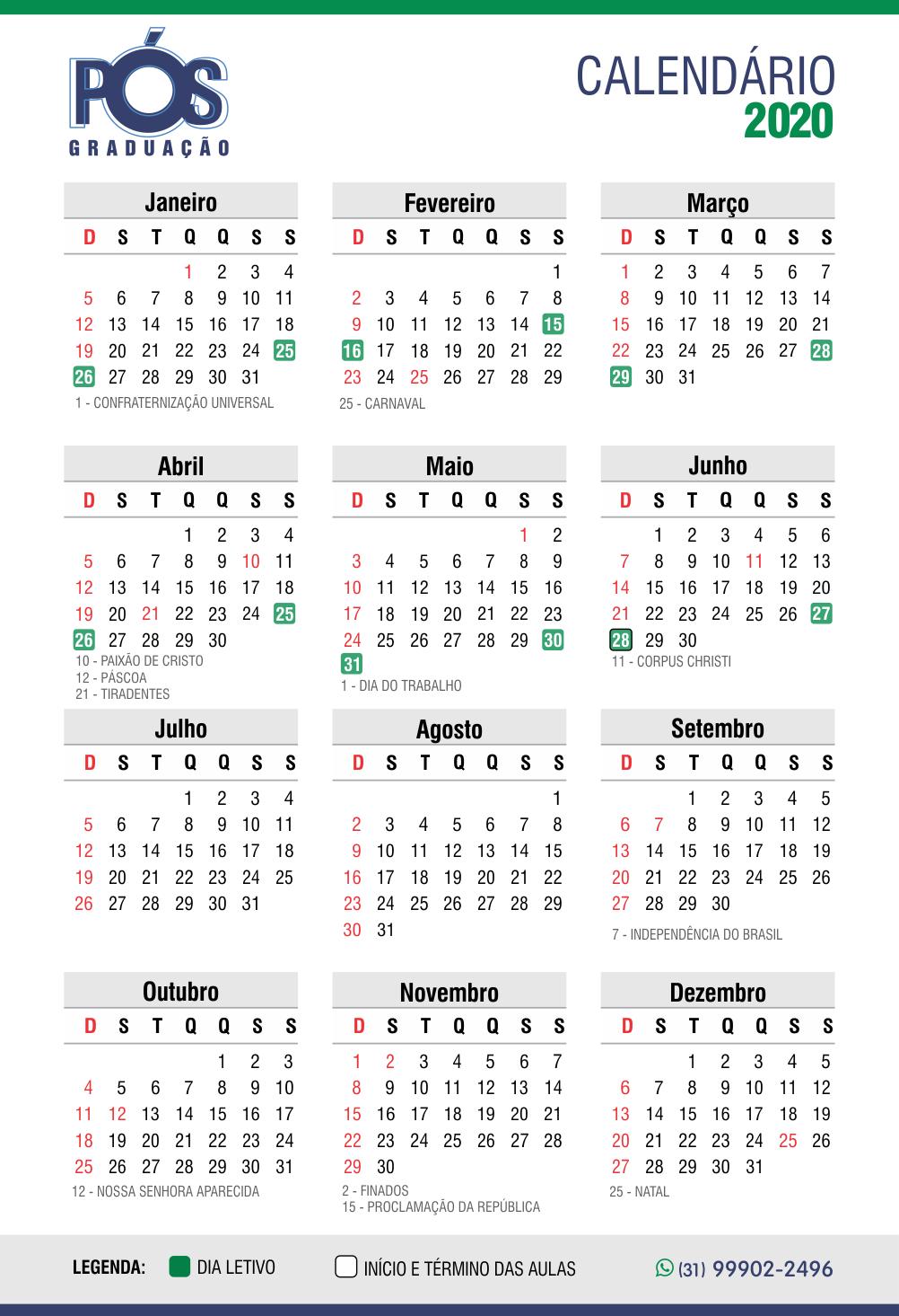 Calendário atual B