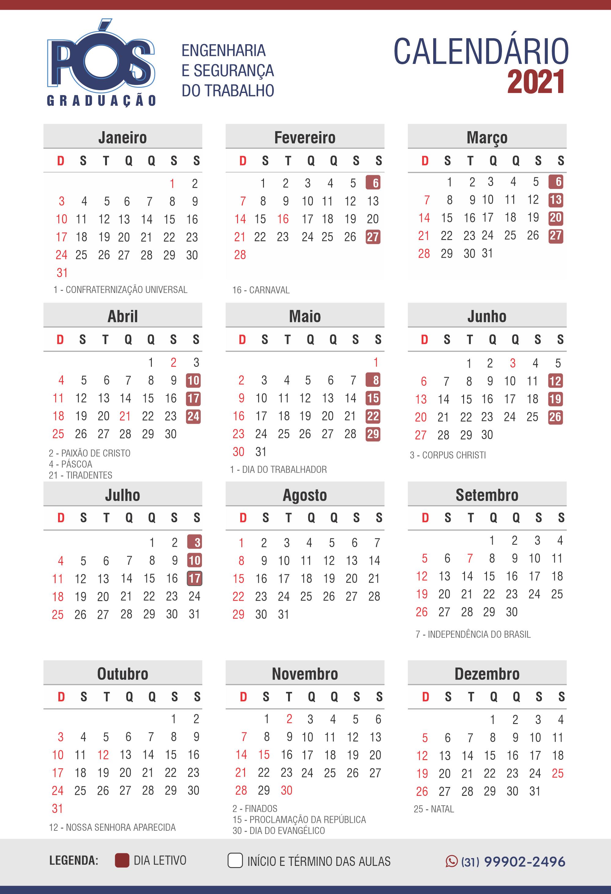 Calendário novo B
