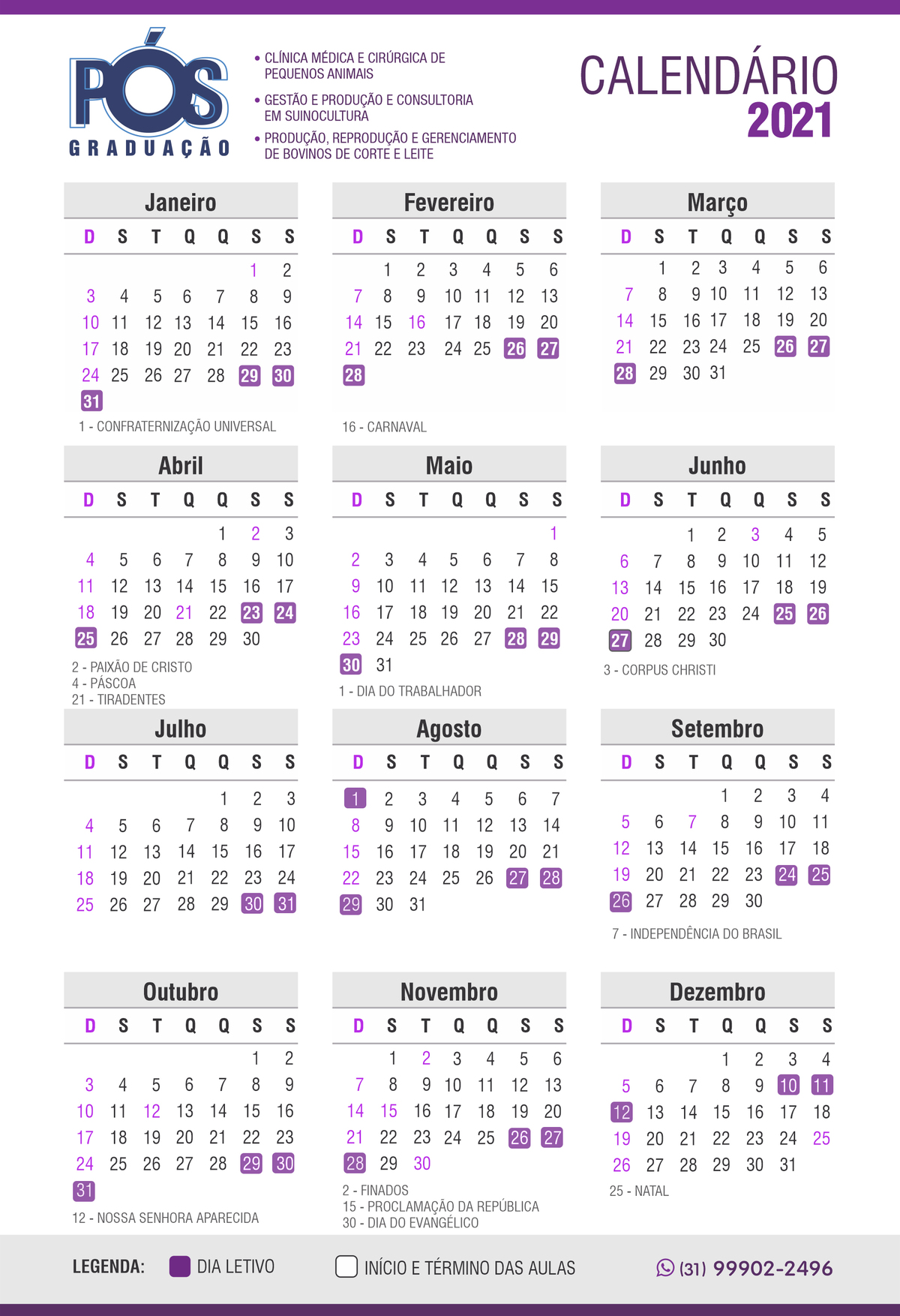 Calendário novo A
